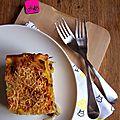 Lasagnes aux légumes et mozarella