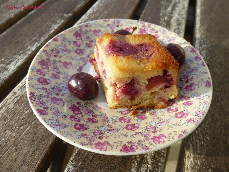 Gâteau aux cerises, amandes et ricotta (52)