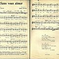 Sheet music - sans vous aimer (partition)