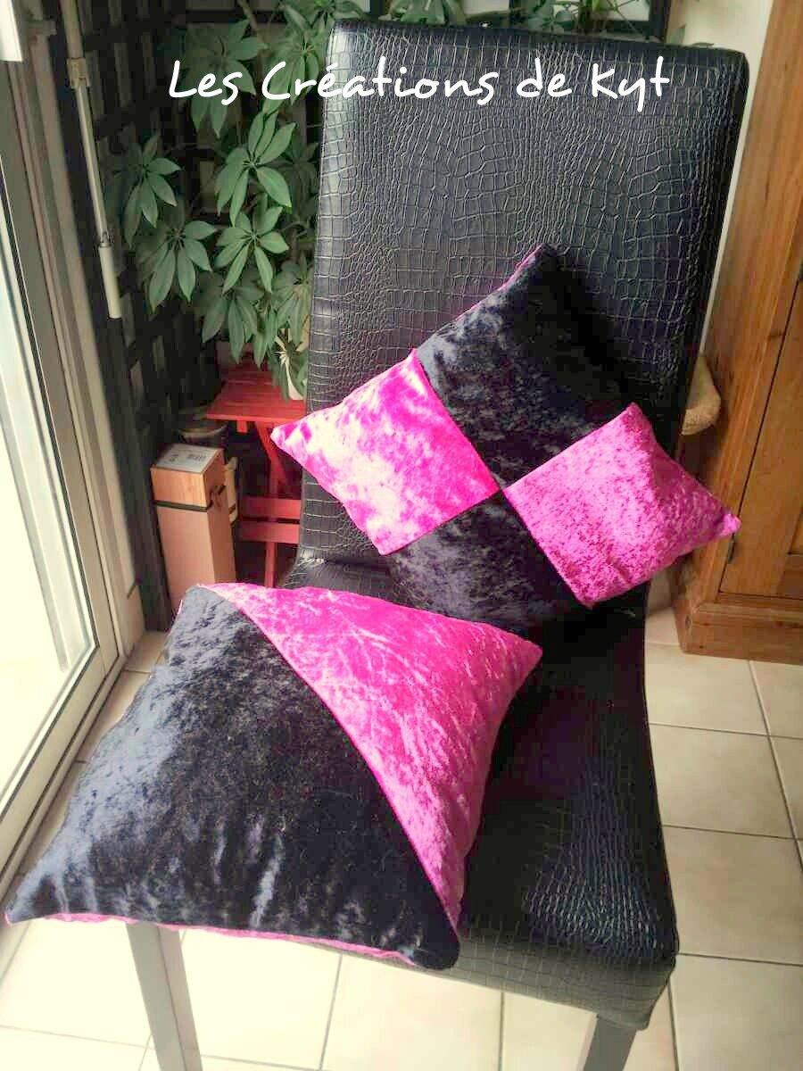 Coussin Pour Chambre D Ado couture : des petits coussins roses et noirs pour une