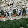 mini terrasse pour les pots