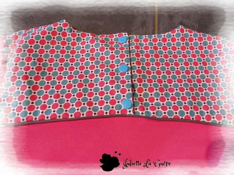 Gourmande legging guêtres rose bleu jean7