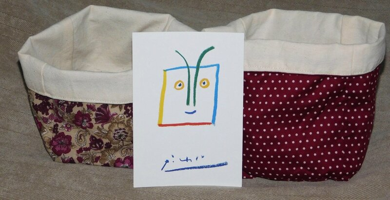 Pochons et carte postale de Claude