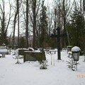 Cimetière sous la neige, Tartu