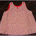 Robe trapèze pour poupée