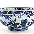 A blue and white 'immortals' bowl, mark and period of wanli (1573-1619)
