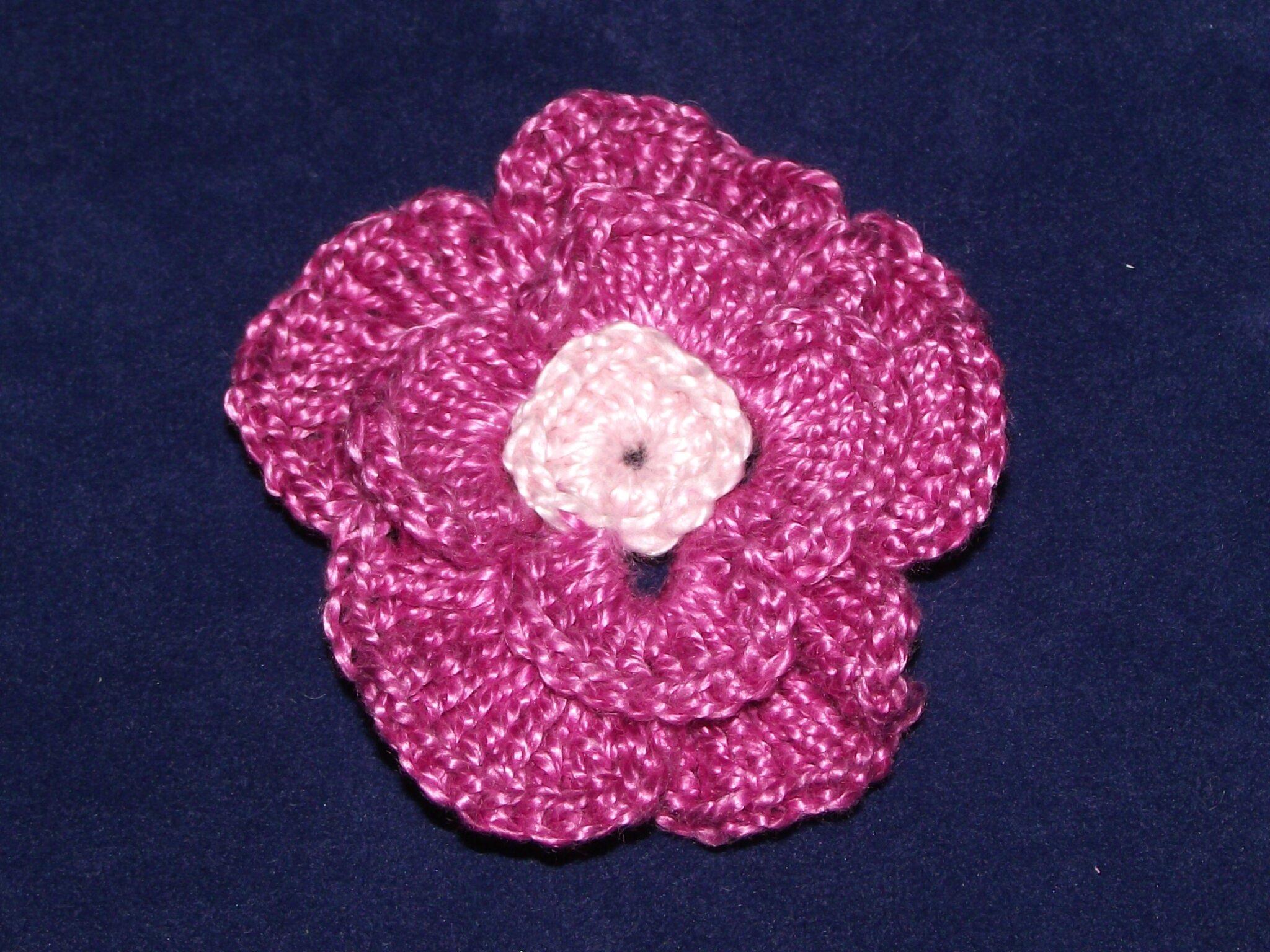 fleurs au crochet blanc rose violet 4