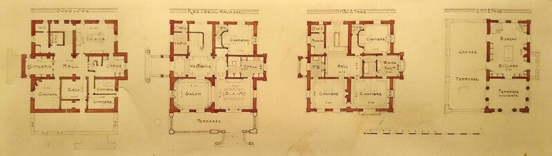 1911_Villa Marquisette_Royan_plans