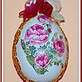 Oeuf Pâques décoré serviettage 13