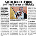 Terminale es, article dna : l'intelligence artificiel pour lutter contre le cancer du sein