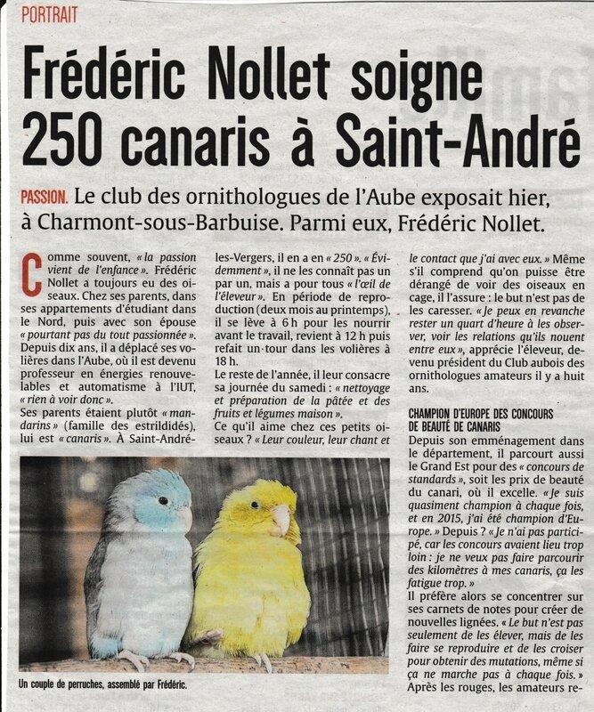 Expo d'oiseaux exotiques 1ère partie 2017