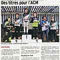ACM BMX - REVUE DE PRESSE