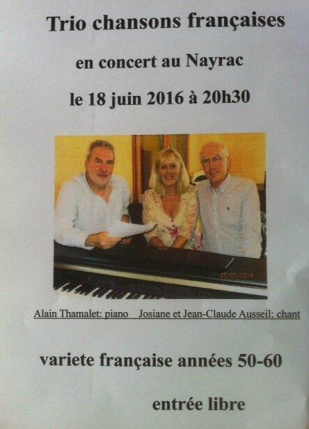 Trio Chansons Française S 18 juin 2016