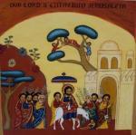 Entrée royale à Jérusalem, icône