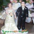 Figurine de mariage / cake topper