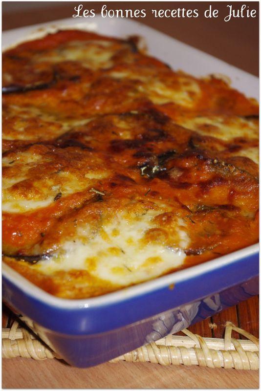 Gratin D Aubergines Sa Sauce Tomate Au Parmesan Et Sa Mozzarella