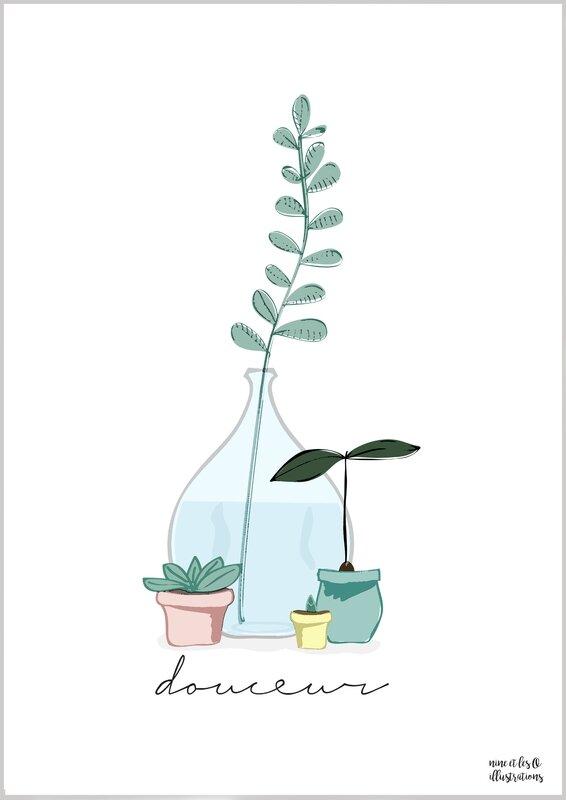 affiche douceur plantes visuel blog