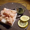 Le saumon cru au thé matcha ( recette anne dufour)