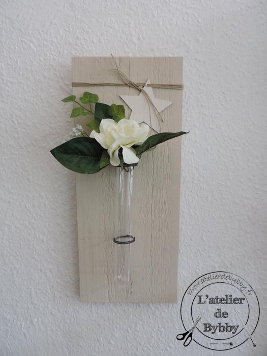 soliflore bois blanc fleurs