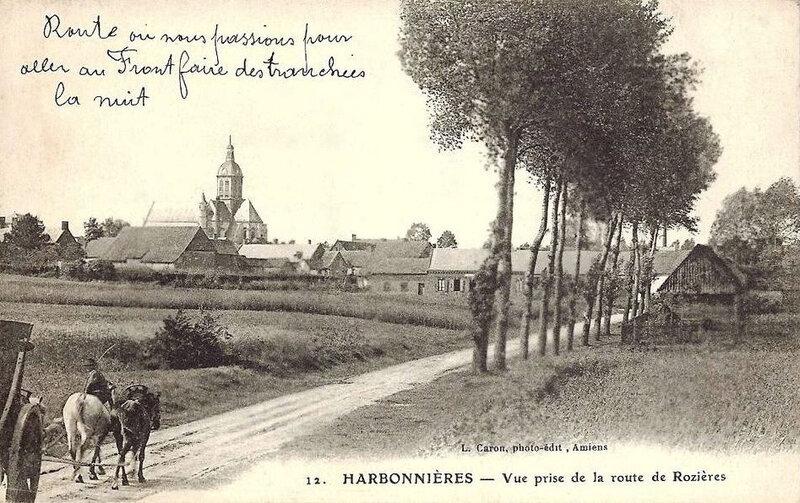 Harbonnières, route des tranchées