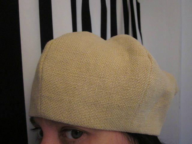 chapeau en lin ocre fâné (2)