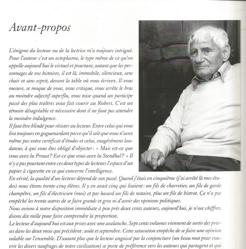 Pierre Magnan. A propos des lecteurs.