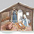 Crèche sous la neige
