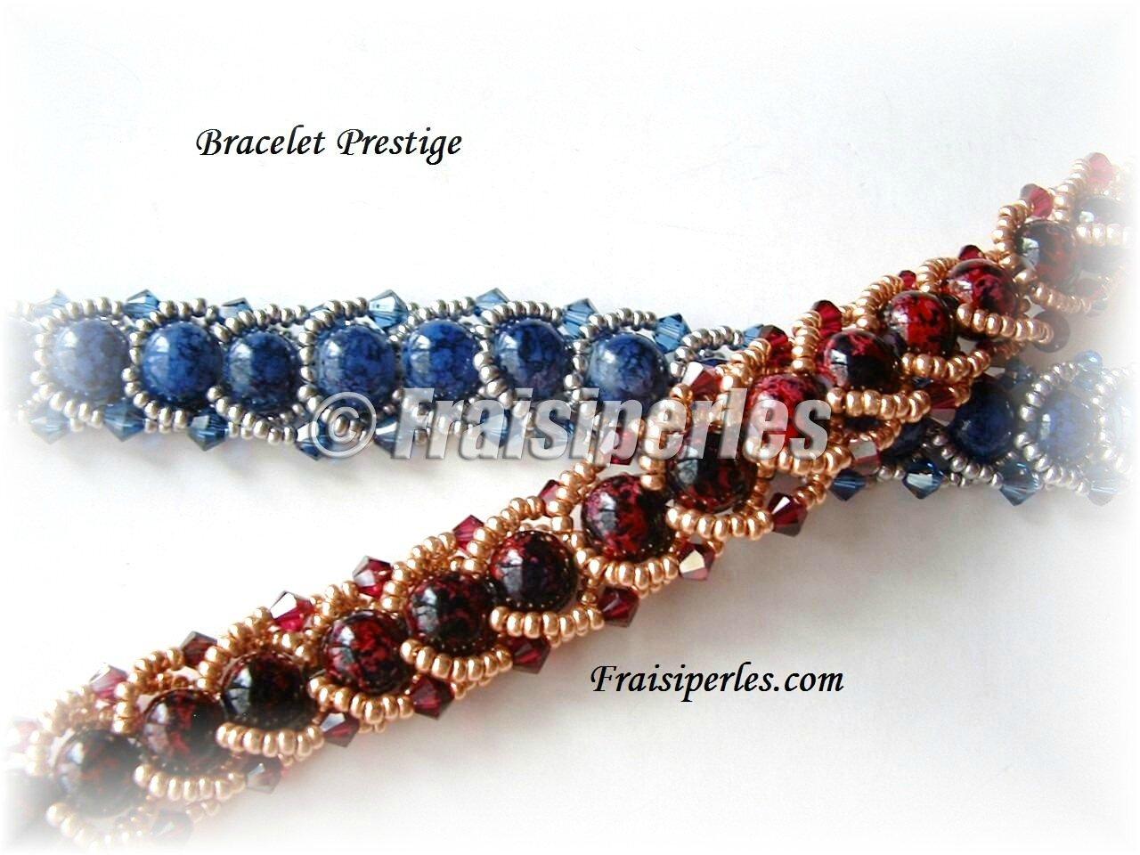 bracelet prestige bleu et rouge copy