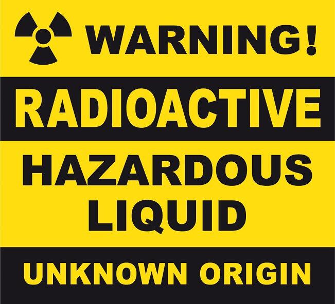 label radioactive unknown zombie virus biohazard