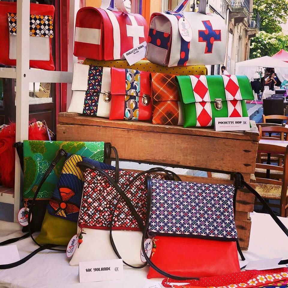 CrApule FActOry au marché de créateurs à Grenoble la corde à linge 30mai 2015