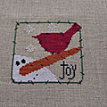 Snowman - christmas joy (angel stitchin)