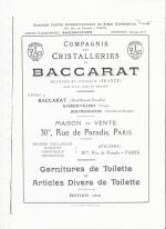 Baccarat 1916