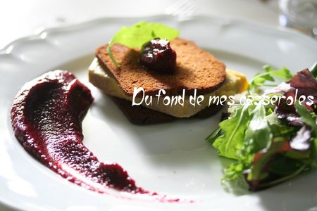 Foie gras betterave