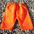 pantalon velours orange