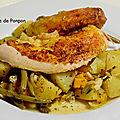 Pintadeau accompagné de ses légumes en sachet cuisson