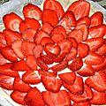 Tarte aux fraises et au chocolat blanc