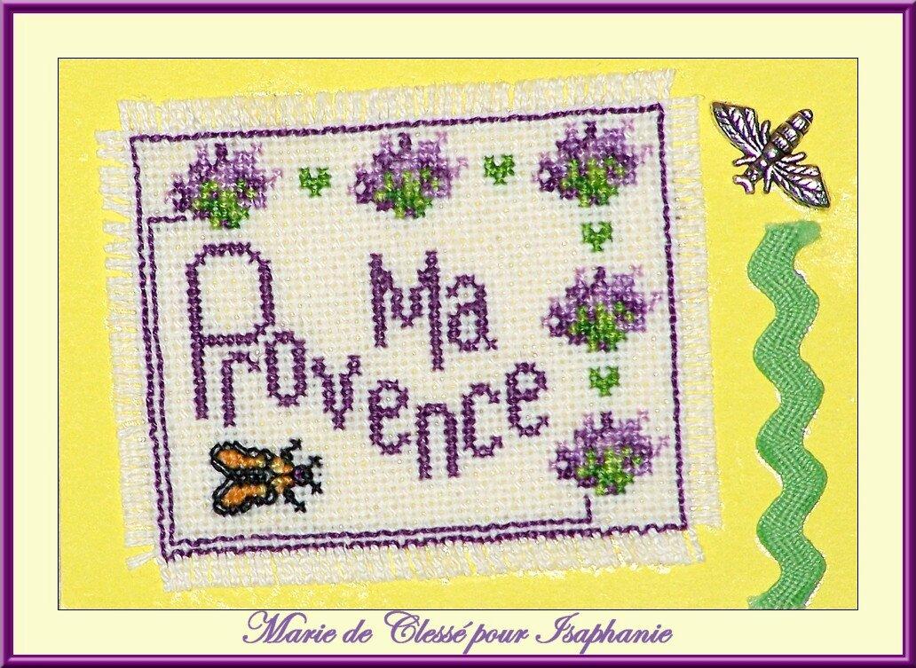 Échange ATC Perso (La Provence) Marie de Clessé pour Isaphanie (1)
