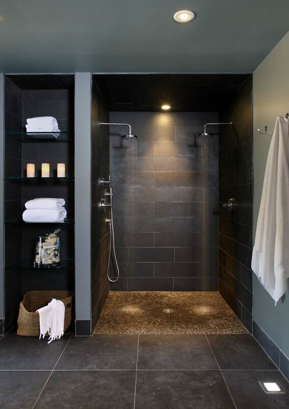 adjoining-rooms-bathroom-contemporary-with-walk-in-shower-wicker-rattan-baskets