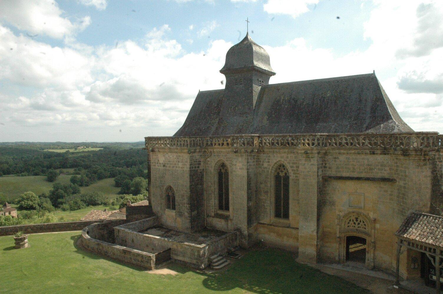la chapelle du château de Biron