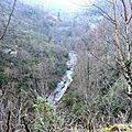 Les gorges du Lourdios en amont du village...