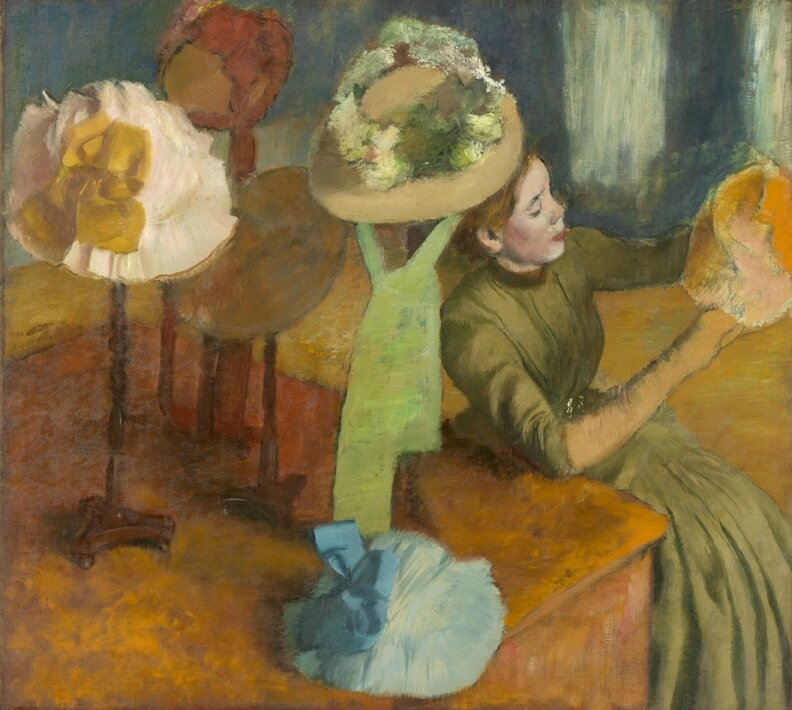 exhibition explores edgar degas fascination with the hat makers of