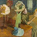 Exhibition explores edgar degas' fascination with the hat makers of paris