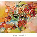 Masque peint puis monté sur bois Prix : 140 e
