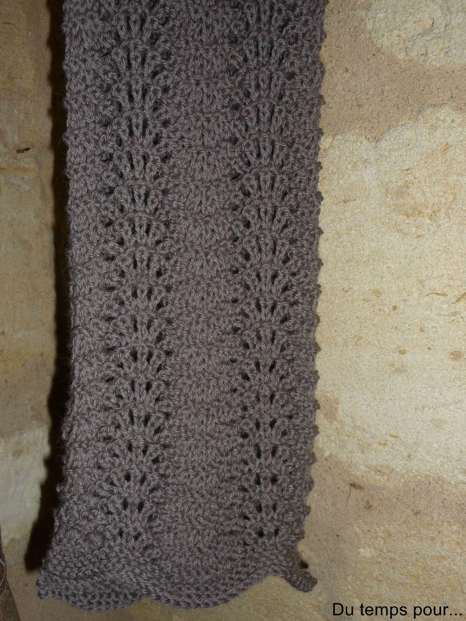 Étonnant Quel Point Pour Tricoter Une Écharpe echarpe au point de vagues - du temps pour
