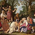 Mauritshuis acquires painting by rembrandt's most influential teacher, pieter lastman: st john the baptist preaching (1627)