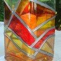 Vase vitrail