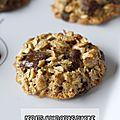 Biscuits aux flocons d'avoine et au chocolat noir, sans gluten