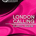 London calling, editions l'ivre-book