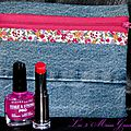 trousse à maquillage en jean et liberty