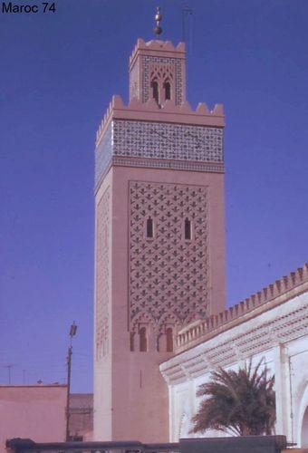 minaret, Maroc